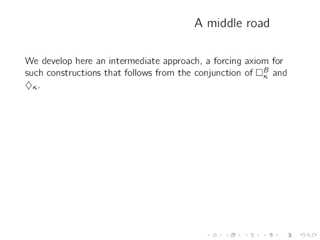 A middle road We develop here an intermediate a...