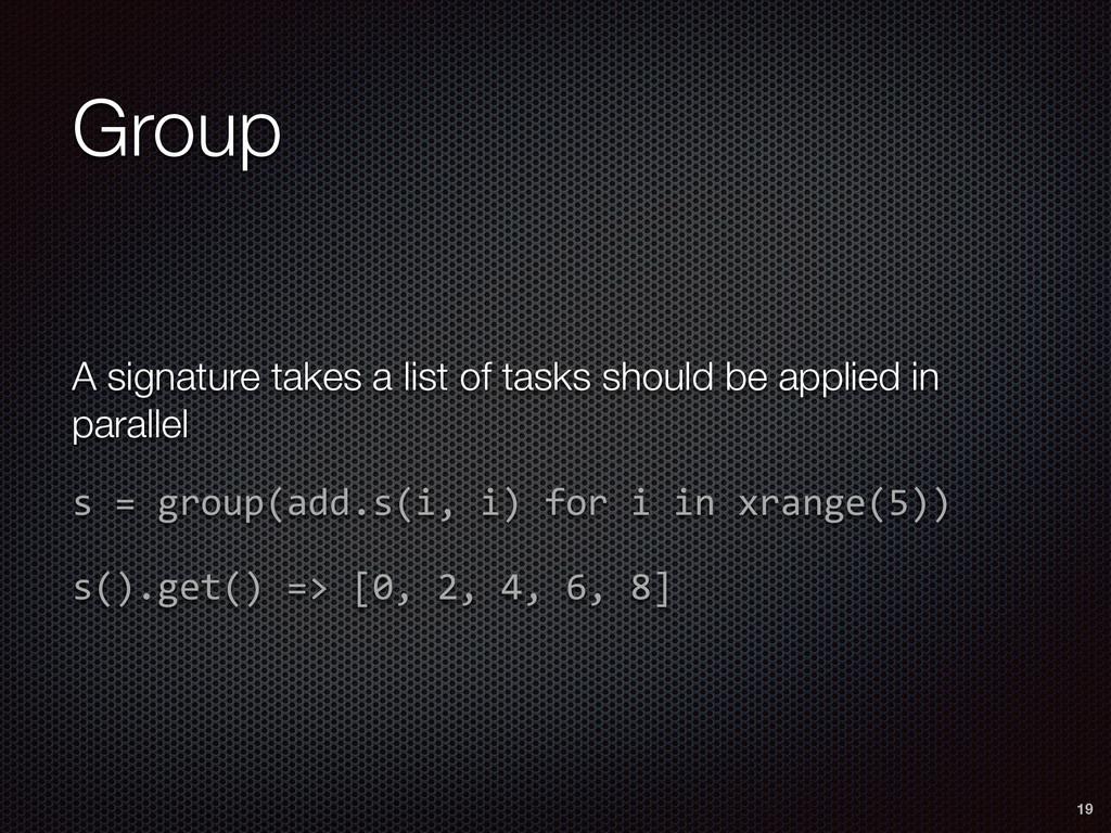 Group 19 A signature takes a list of tasks shou...