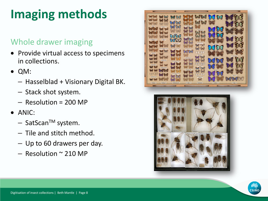 Whole drawer imaging  Provide virtual access t...