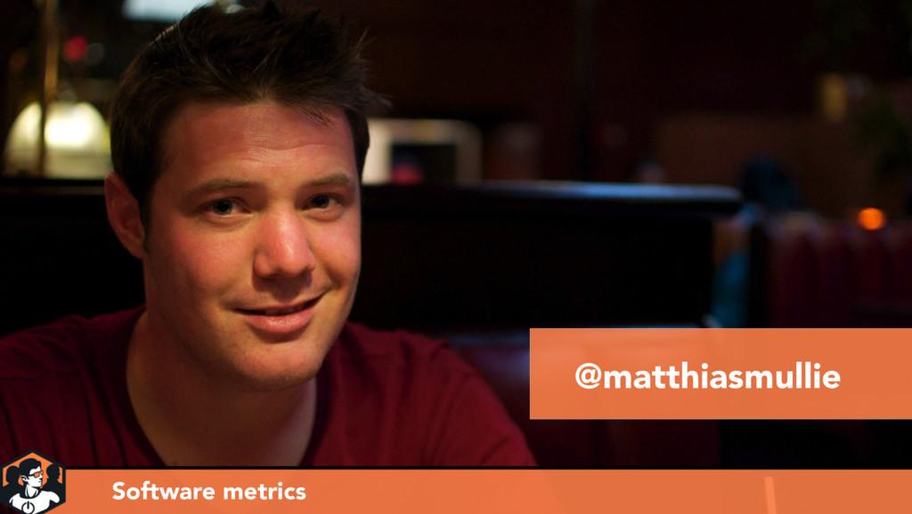 @matthiasmullie Software metrics