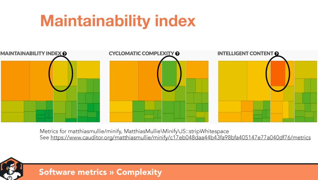 Metrics for matthiasmullie/minify, MatthiasMull...