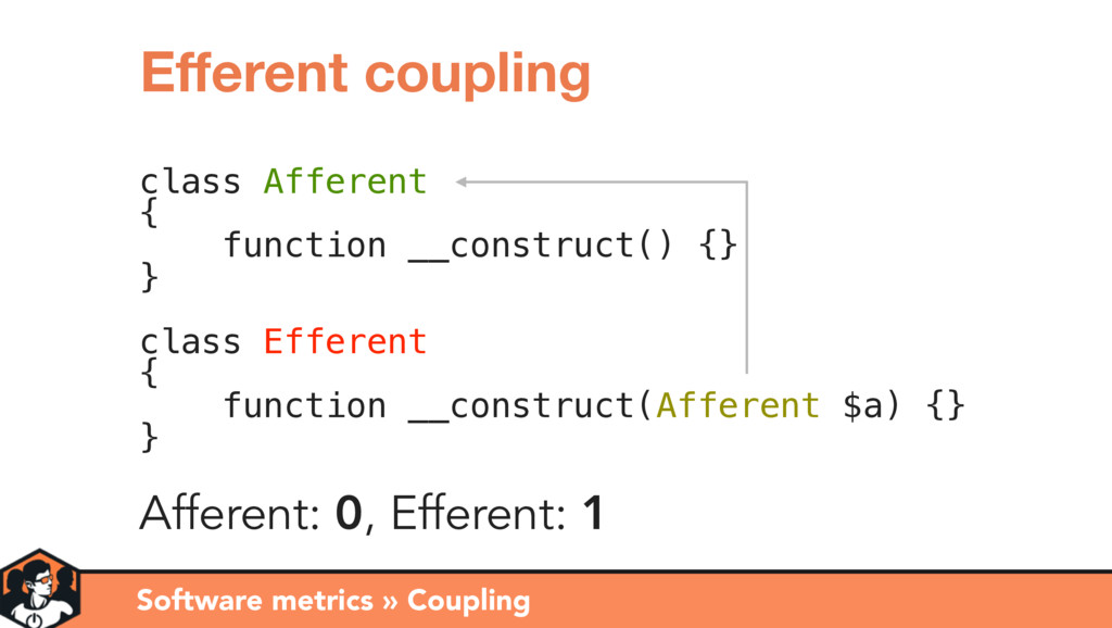 class Afferent { function __construct() {} } cl...