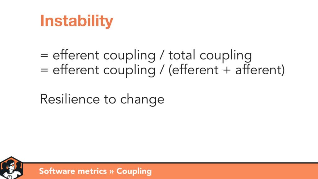= efferent coupling / total coupling = efferent...