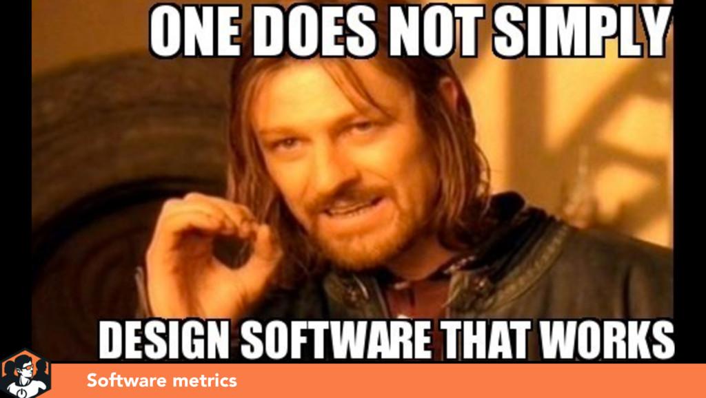 Presentation title Software metrics