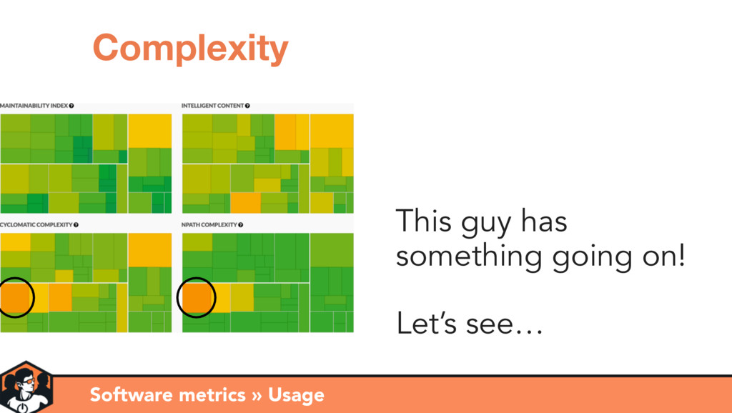 Software metrics » Usage Complexity This guy ha...