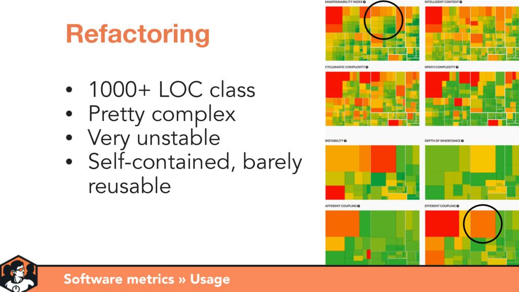 Software metrics » Usage Refactoring • 1000+ LO...