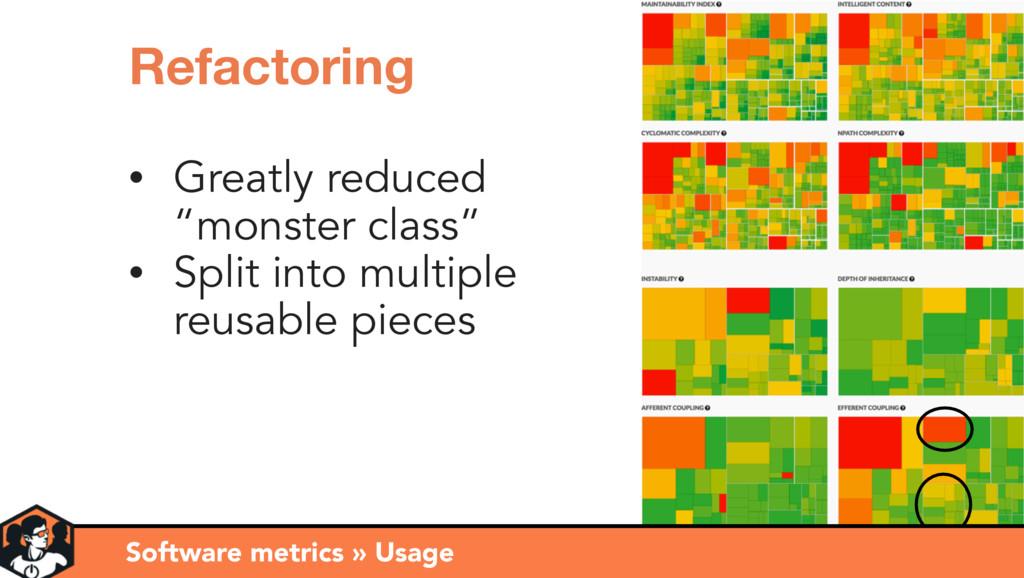 Software metrics » Observations Refactoring • G...