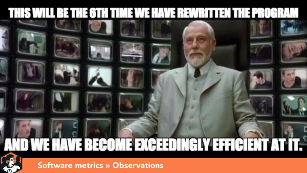 Presentation title Software metrics » Observati...