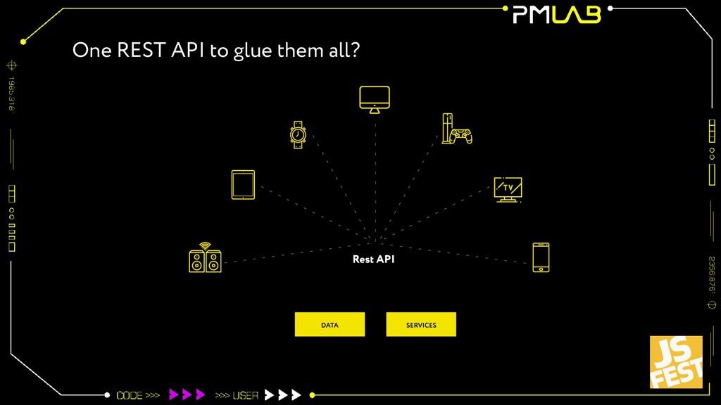 One REST API to glue them all?