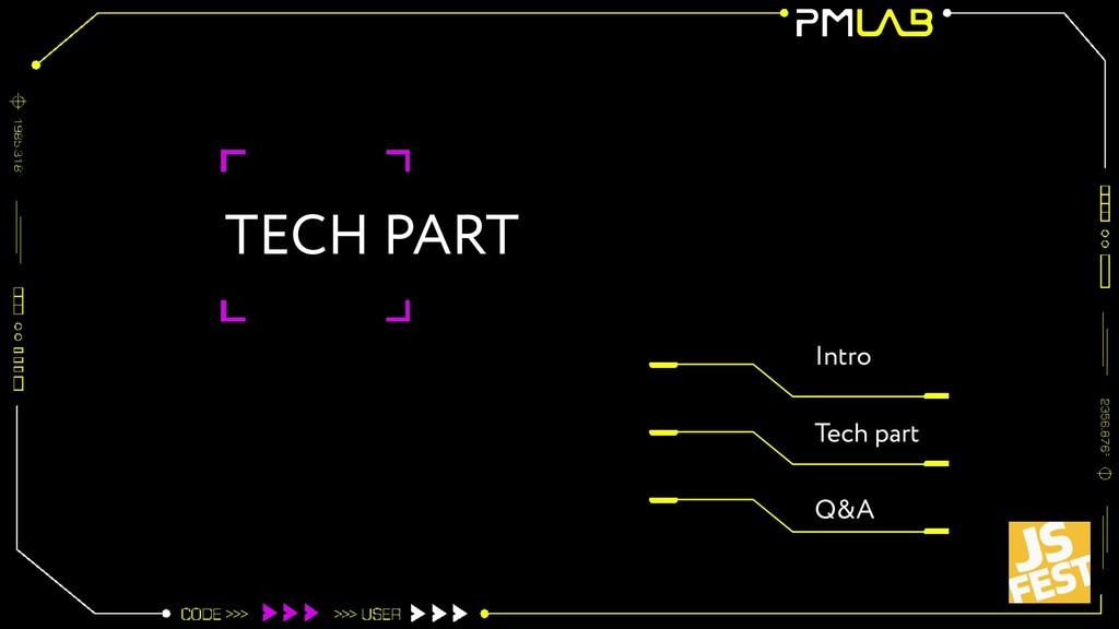TECH PART Intro Tech part Q&A