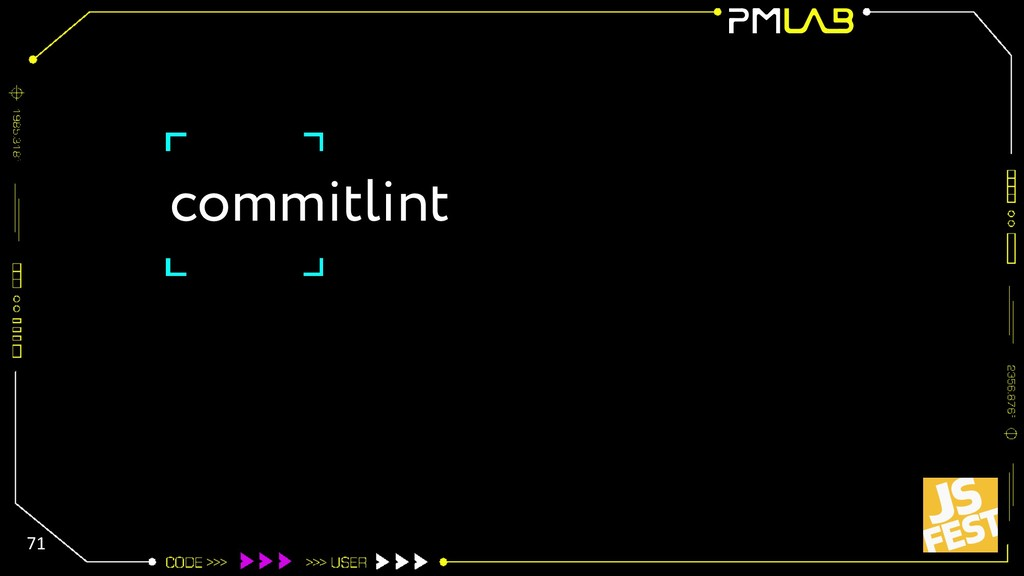 commitlint 71