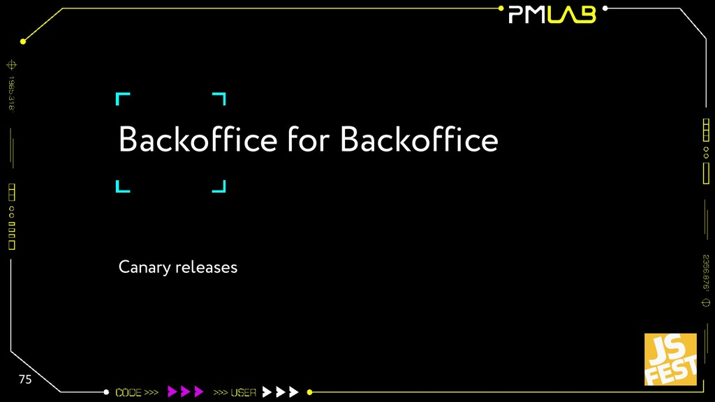 Backoffice for Backoffice 75 Canary releases