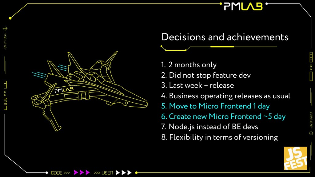 Decisions and achievements 1. 2 months only 2. ...