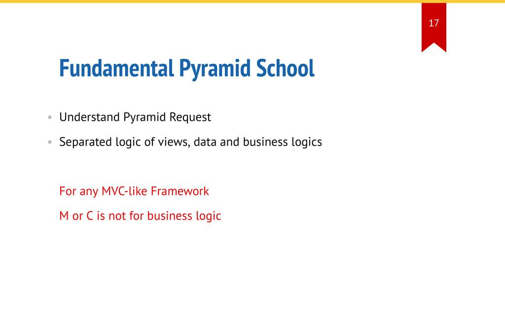 Fundamental Pyramid School • Understand Pyramid...