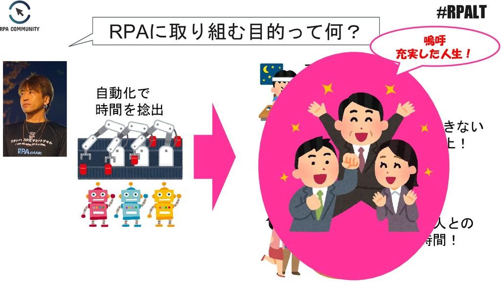 スキルUP! 自動化で 時間を捻出 人にしかできない サービス向上! 家族や恋人との 幸せな時...