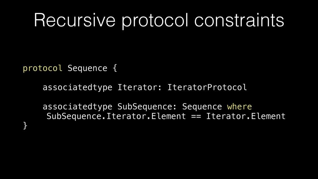 Recursive protocol constraints protocol Sequenc...