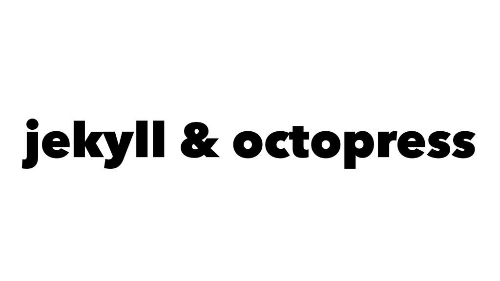 jekyll & octopress