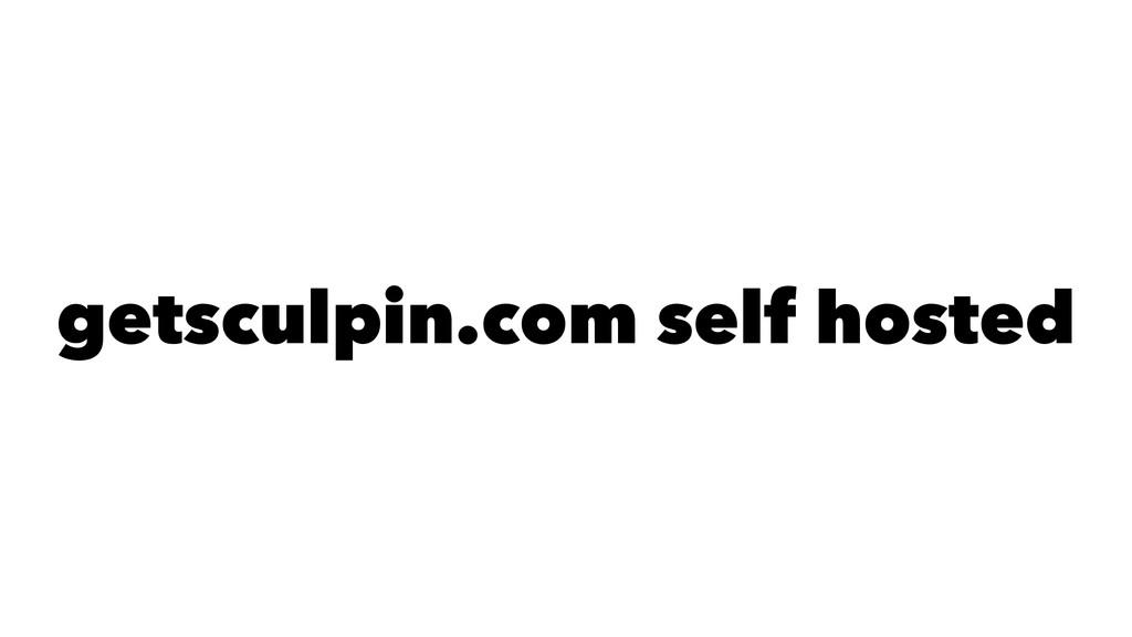 getsculpin.com self hosted