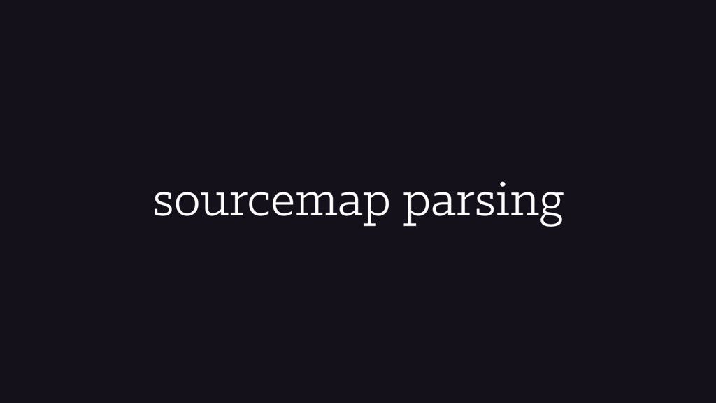 sourcemap parsing