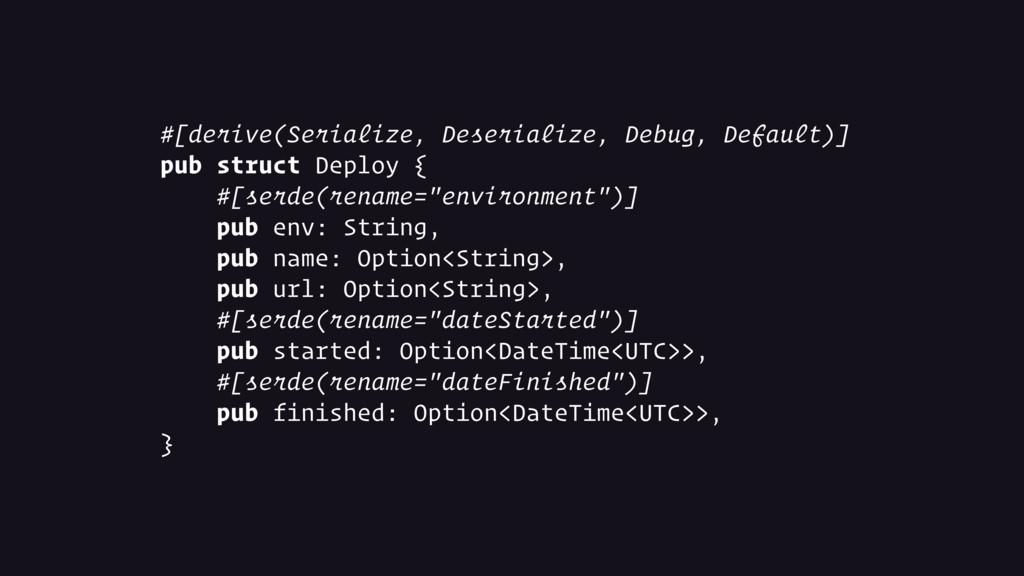#[derive(Serialize, Deserialize, Debug, Default...