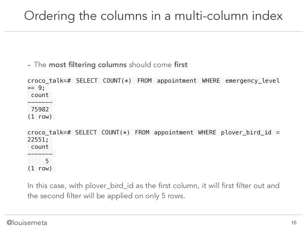 @louisemeta Ordering the columns in a multi-col...