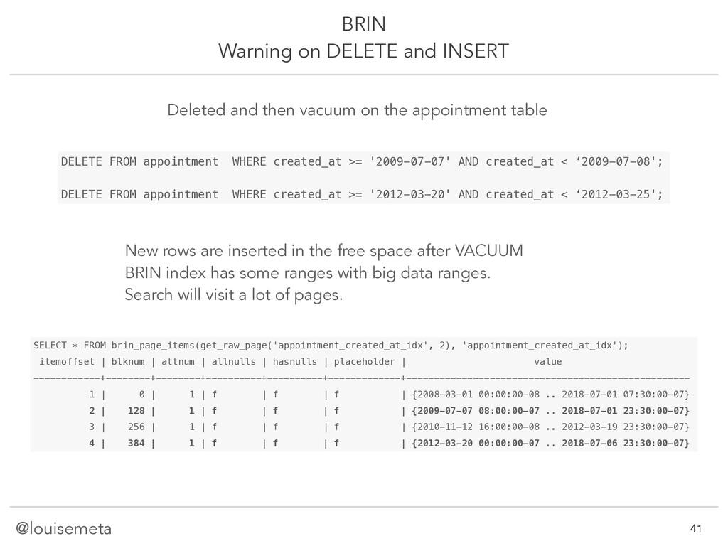 @louisemeta BRIN Warning on DELETE and INSERT S...