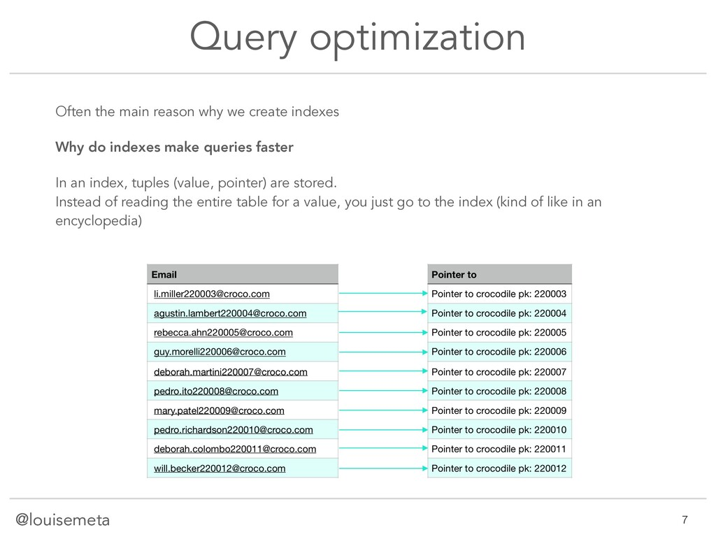 @louisemeta Query optimization Often the main r...