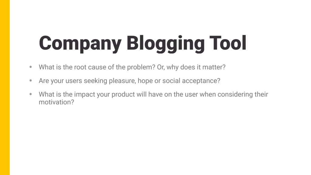Company Blogging Tool • What is the root cause ...