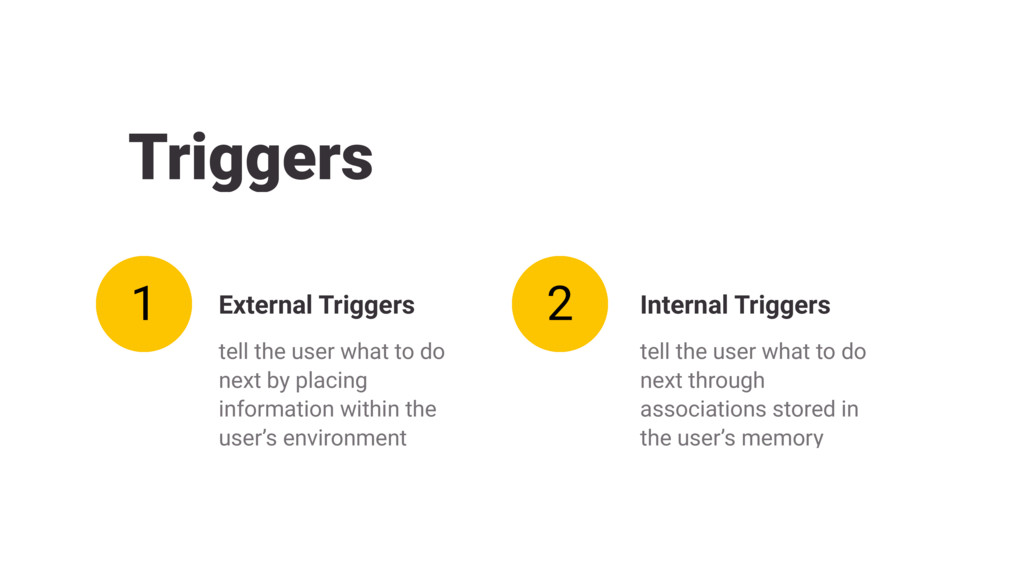Triggers tell the user what to do next by placi...