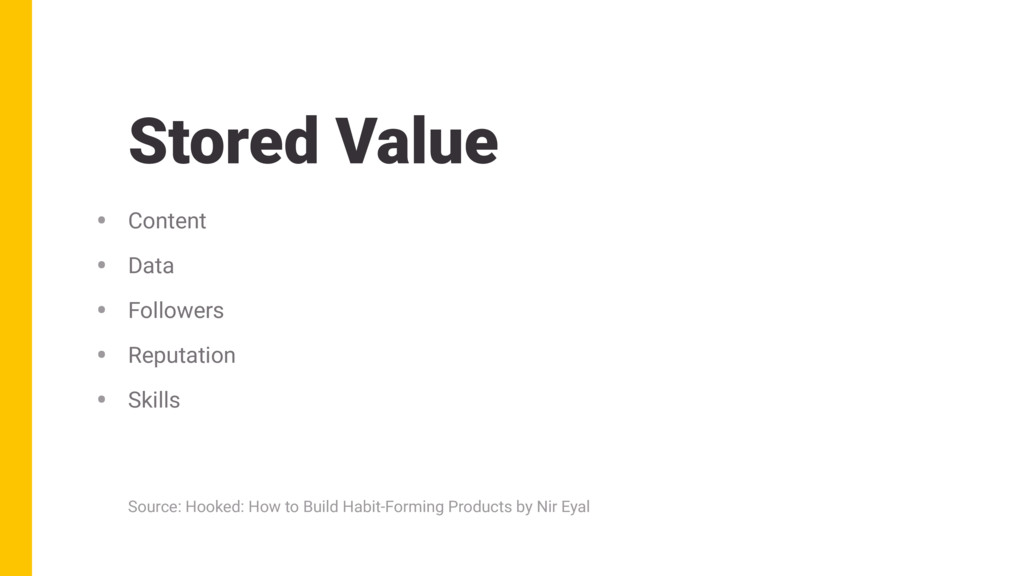 Stored Value • Content • Data • Followers • Rep...