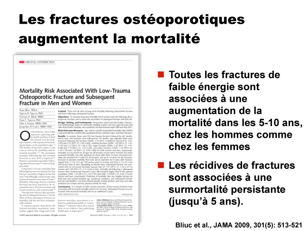 Les fractures ostéoporotiques augmentent la mor...