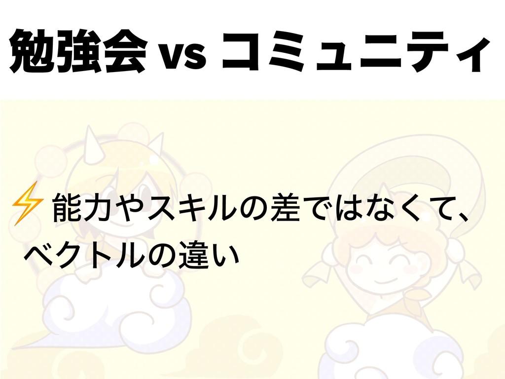ษڧձ vs ίϛϡχςΟ ⚡ྗεΩϧͷࠩͰͳͯ͘ɺ ϕΫτϧͷҧ͍