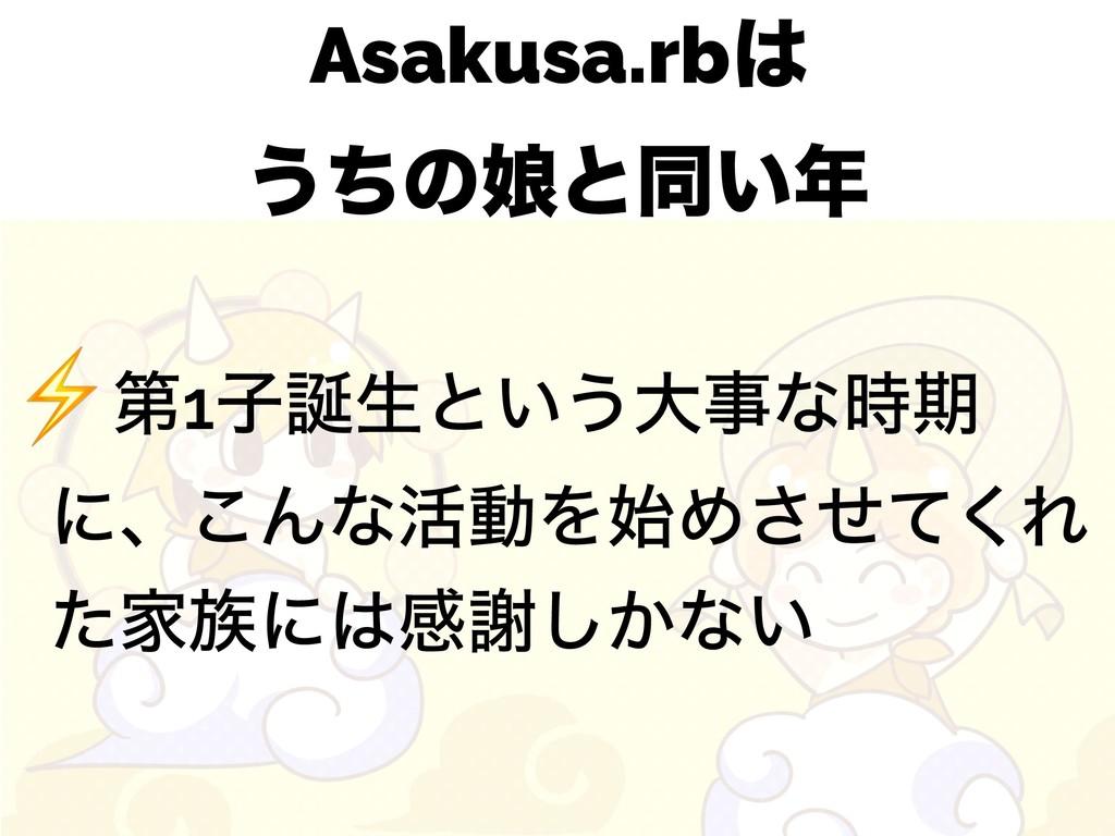Asakusa.rb ͏ͪͷ່ͱಉ͍ ⚡ୈ1ࢠੜͱ͍͏େͳظ ʹɺ͜Μͳ׆ಈΛΊ...