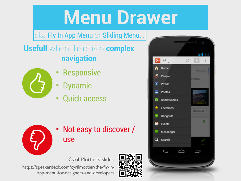 Menu Drawer • Responsive • Dynamic • Quick acce...