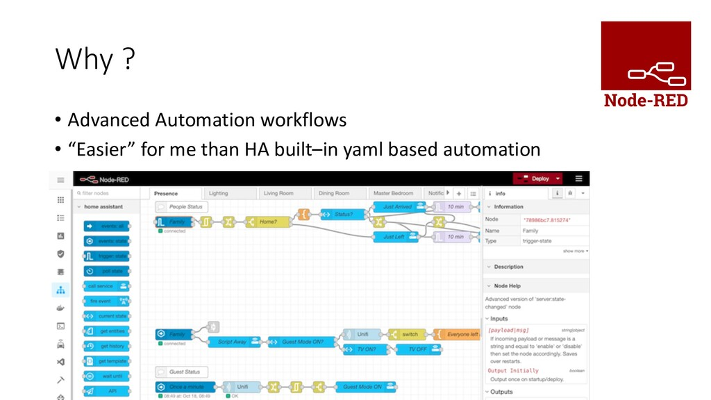 """Why ? • Advanced Automation workflows • """"Easier..."""
