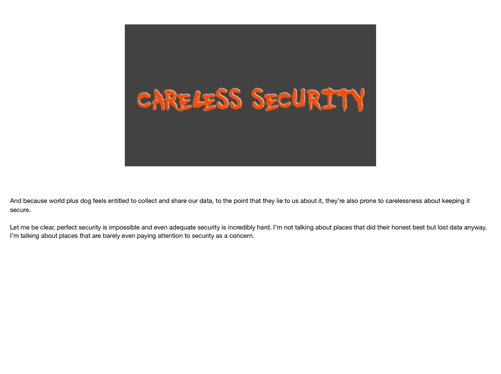 CAREL ESS SECURITY And because world plus dog f...