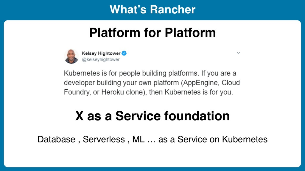 What's Rancher Platform for Platform X as a Ser...