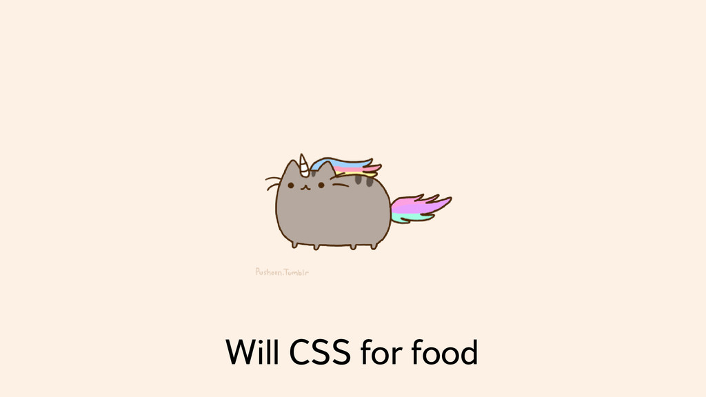 Will CSS for food