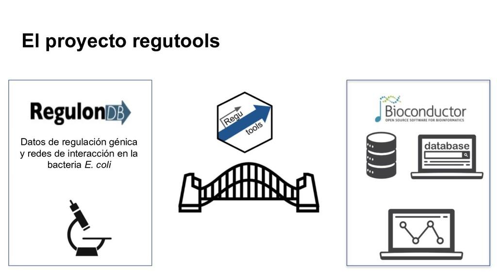 El proyecto regutools Datos de regulación génic...