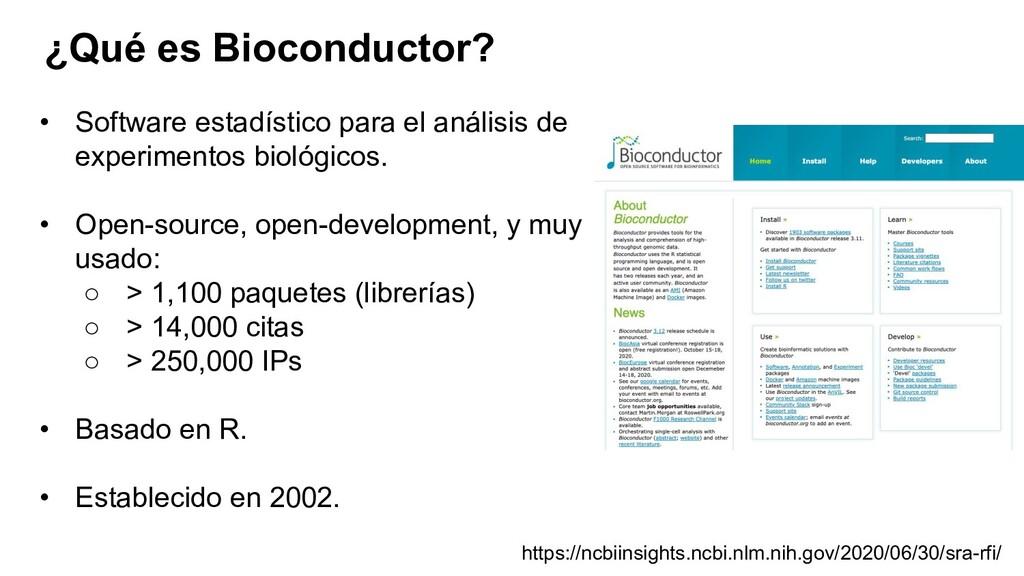 ¿Qué es Bioconductor? https://ncbiinsights.ncbi...