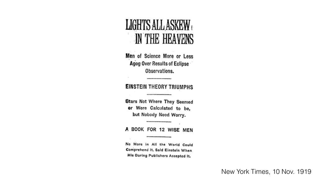 New York Times, 10 Nov. 1919