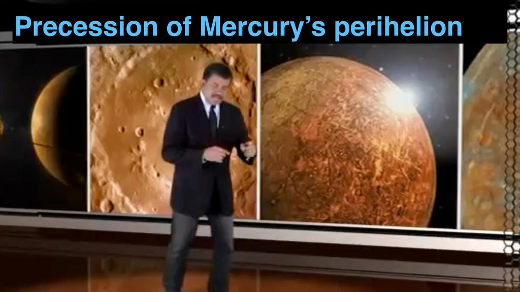 Precession of Mercury's perihelion