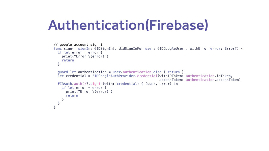Authentication(Firebase) // google account sign...
