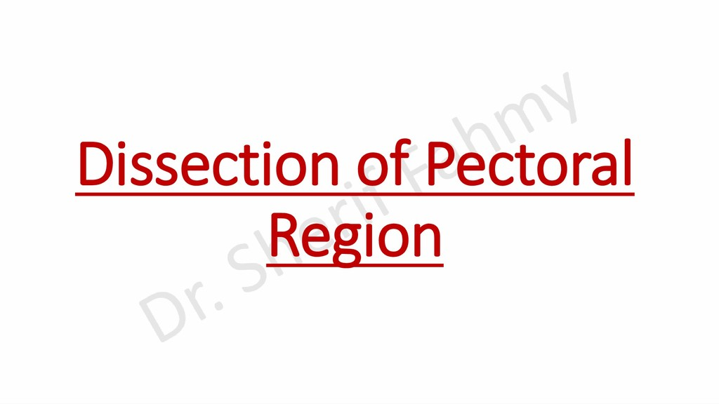 Dissection of Pectoral Region