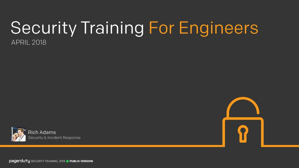 SECURITY TRAINING, 2018 Security Training For E...
