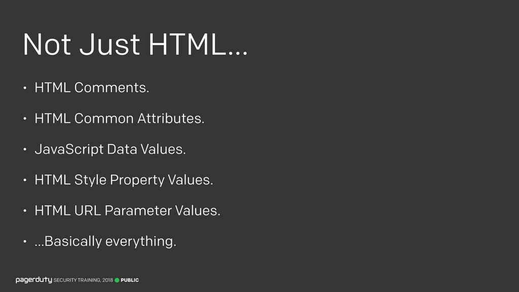 Not Just HTML… • HTML Comments. • HTML Common A...