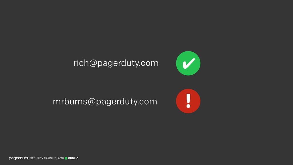 PUBLIC SECURITY TRAINING, 2018 rich@pagerduty.c...