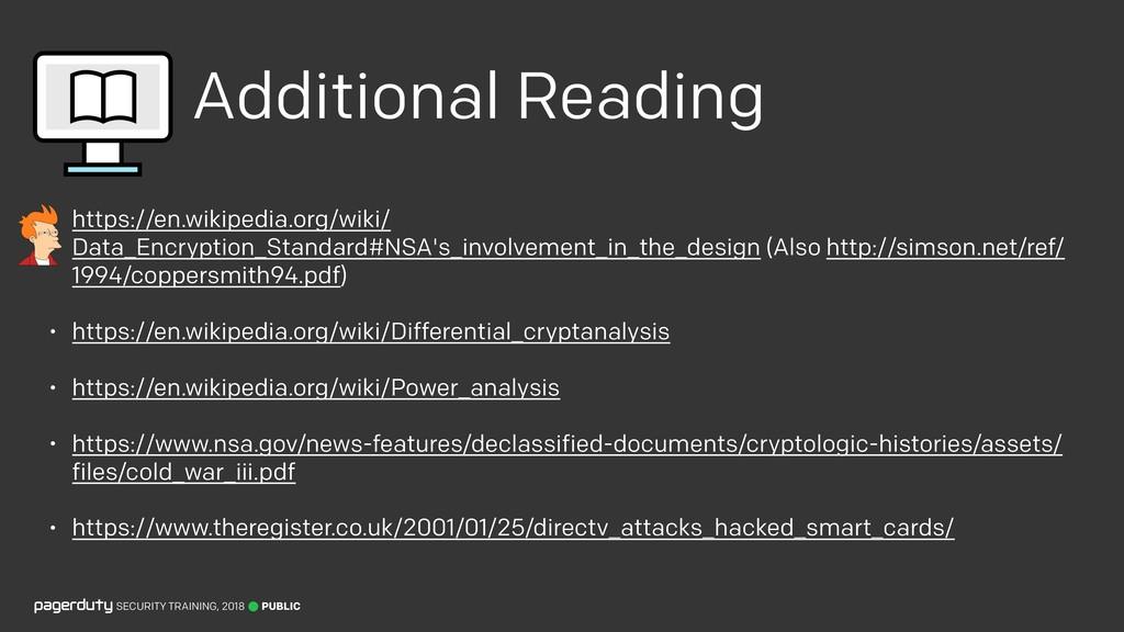 Additional Reading • https://en.wikipedia.org/w...