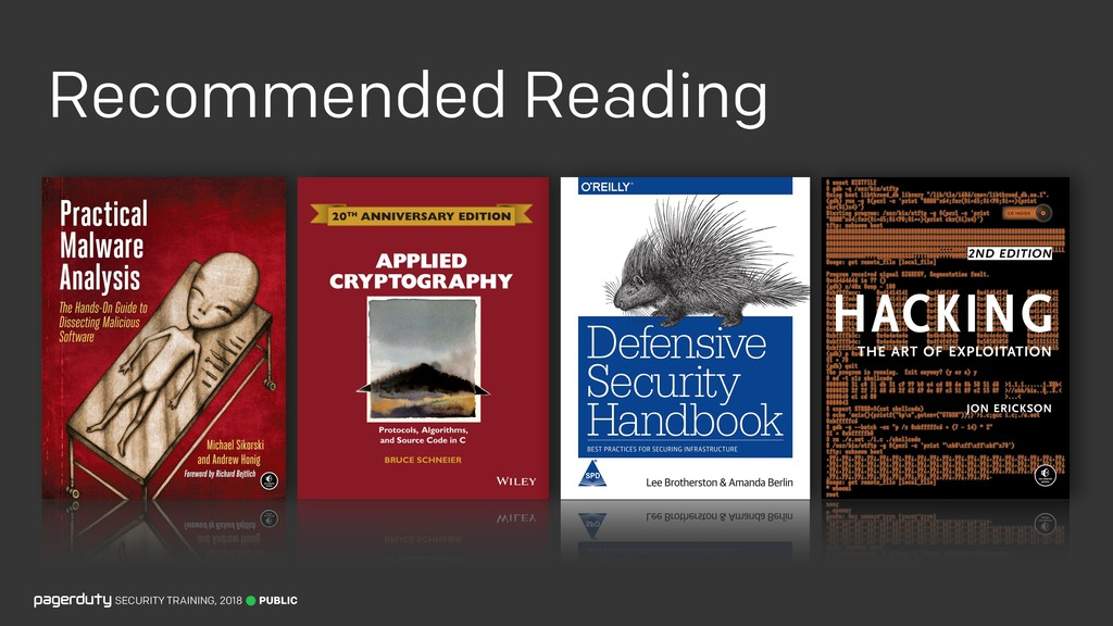 Recommended Reading PUBLIC SECURITY TRAINING, 2...