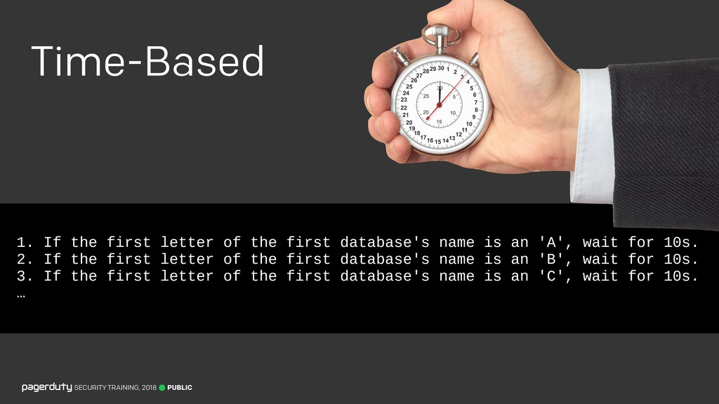 1. If the first letter of the first database's ...